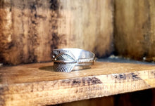 Load image into Gallery viewer, Silver Feather Ring $39
