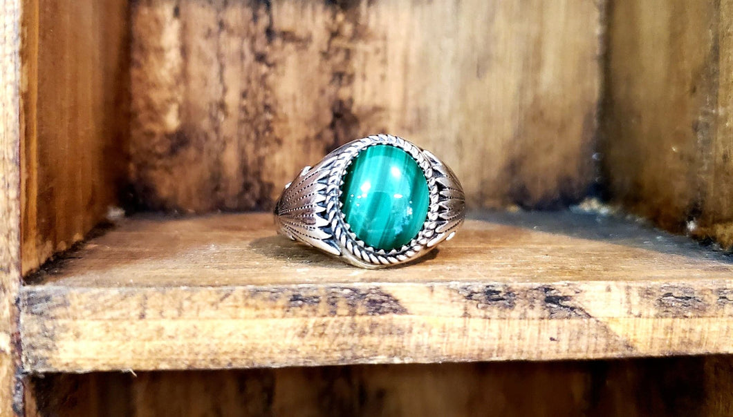 Malachite Ring $89