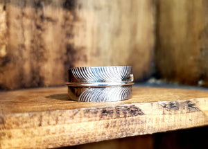 Silver Feather Ring $39
