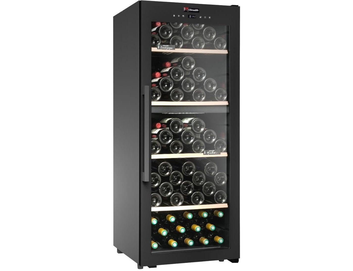 Climadiff CD110B1 - Dual Zone - Wine Cooler - 110 Bottles - Freestanding - 500mm Wide