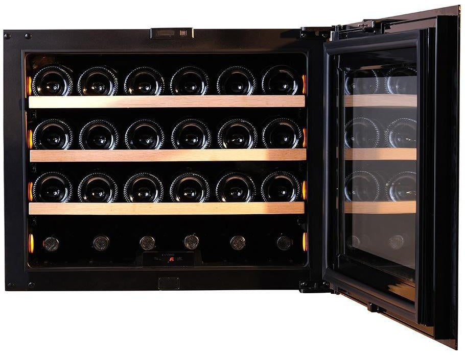 Pevino PI24S-BP - Single Zone - 24 Bottles - Integrated - 592mm Wide - Push Open-Expert Wine Storage