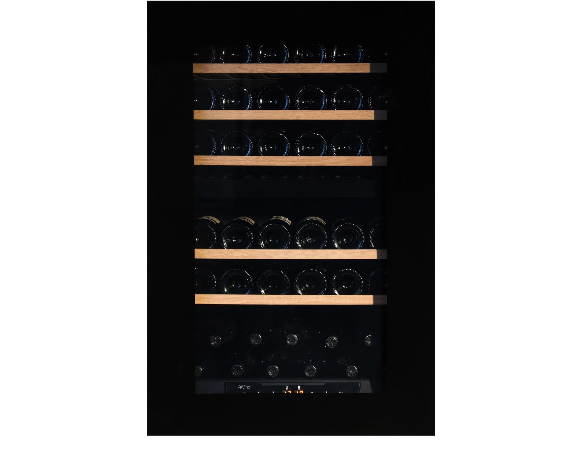 Pevino PI48D-BP - Dual Zone - 42 Bottles - Integrated - Push Open - 555mm Wide-Expert Wine Storage