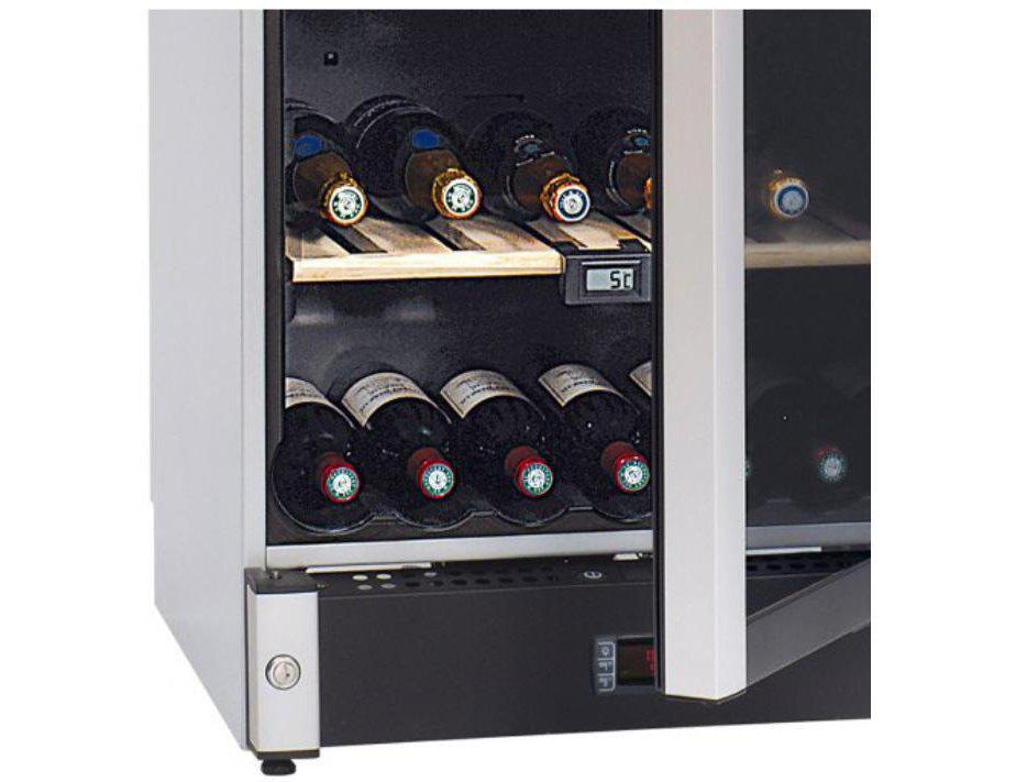 La Sommelière VIP180 - Multizone Wine Cooler - 195 Bottles - Freestanding - 595mm Wide - Silver-Expert Wine Storage