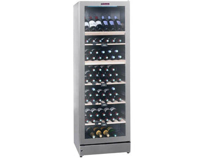 La Sommelière VIP195G - Multi Zone Wine Cooler - 195 Bottles - Freestanding - 595mm Wide - Silver-Expert Wine Storage