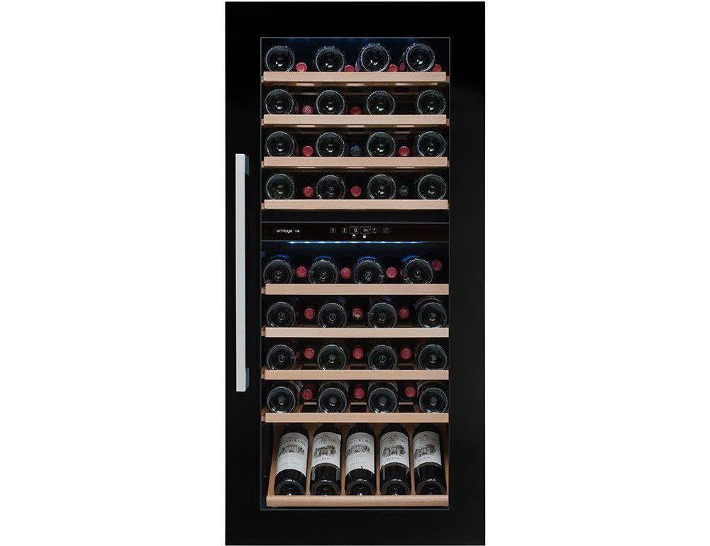 Avintage AVI82CDZA - Dual Zone - 79 Bottles - Integrated - 600mm Wide - Black-Expert Wine Storage
