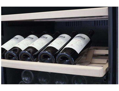 CASO WineChef Pro 126-2D - Freestanding Dual Zone Wine Cooler / Wine Fridge - 126 Bottle - 600mm Wide - Expert Wine Storage