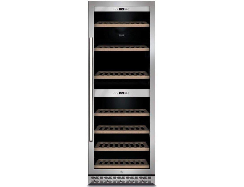 CASO WineChef Pro 126 - Freestanding Dual Zone Wine Cooler / Wine Fridge - 126 bottles - 600mm Wide - Expert Wine Storage