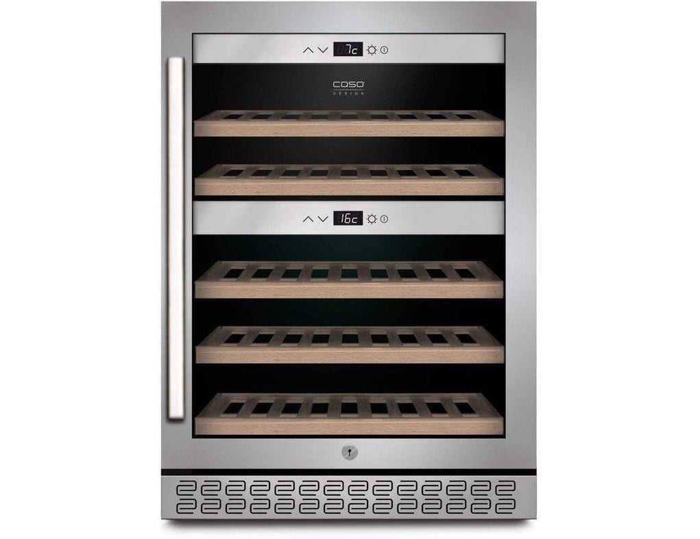 CASO WineChef Pro 40 - Freestanding Dual Zone Wine Cooler / Wine Fridge - 40 Bottle - 595mm Wide - Expert Wine Storage