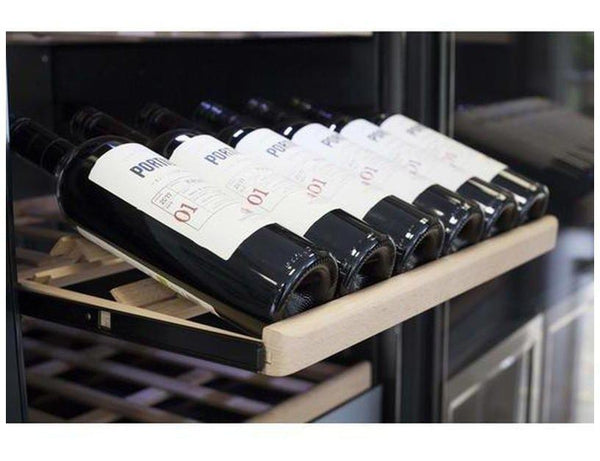 CASO WineComfort 1800 Smart - Freestanding Dual Zone Wine Cooler / Wine Fridge - 180 Bottle - 595mm Wide - Expert Wine Storage