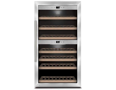 CASO WineComfort 660 Smart - Dual Zone Wine Cooler / Wine Fridge - 66 Bottle - 595mm Wide - Expert Wine Storage