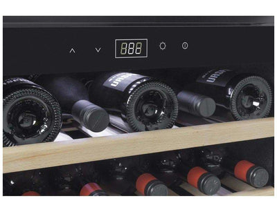 CASO WineSafe 18 EB Inox - Integrated Single Zone Wine Cooler / Wine Fridge - 18 bottles - 590mm Wide - Expert Wine Storage