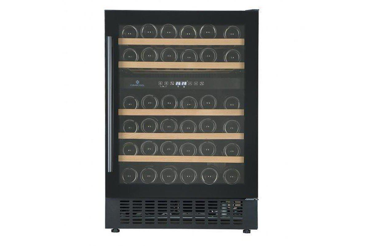 Cave Cool Affection Jargon Wine Fridge - 46 Bottles - 2 Zone Built In Wine Cooler - Black - 595mm Wide + Free Cork Screw - Expert Wine Storage