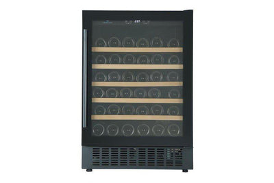 Cave Cool Affection Jargon Wine Fridge - 54 bottles - 1 Zone Built In Wine Cooler - Black - 595mm Wide + Free corkscrew - Expert Wine Storage