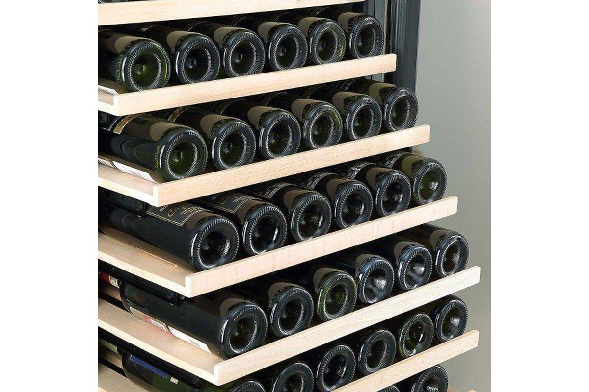 Cave Cool Affection Onyx New - 220 Bottles Wine Fridge - Single Zone Wine Cooler - Black + Free Cork Screw - Expert Wine Storage