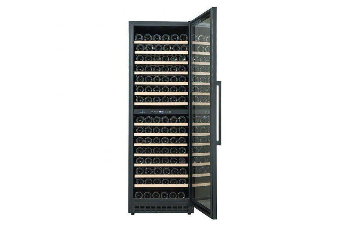 Cave Cool Affection Onyx New Wine Fridge - 210 Bottles - Dual Zone Wine Cooler - Black + Free Corkscrew - Expert Wine Storage