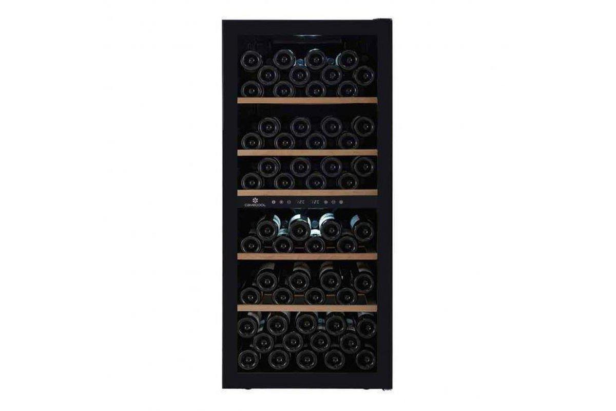 Cave Cool Chill Sapphire Wine Fridge - 102 Bottles - Dual Zone Wine Cooler - Black + Free Corkscrew - Expert Wine Storage