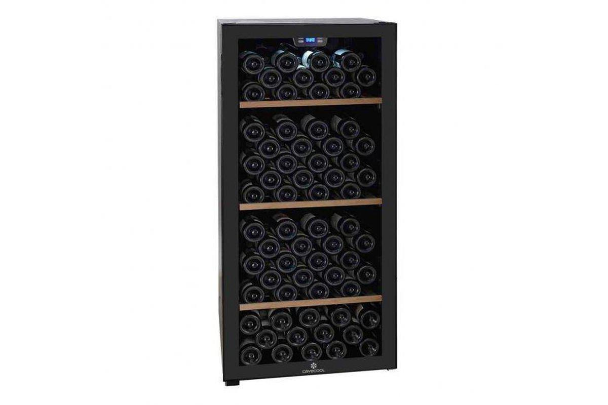 Cave Cool Chill Sapphire Wine Fridge - 121 Bottles - Single Zone Wine Cooler - Black + Free Corkscrew - Expert Wine Storage