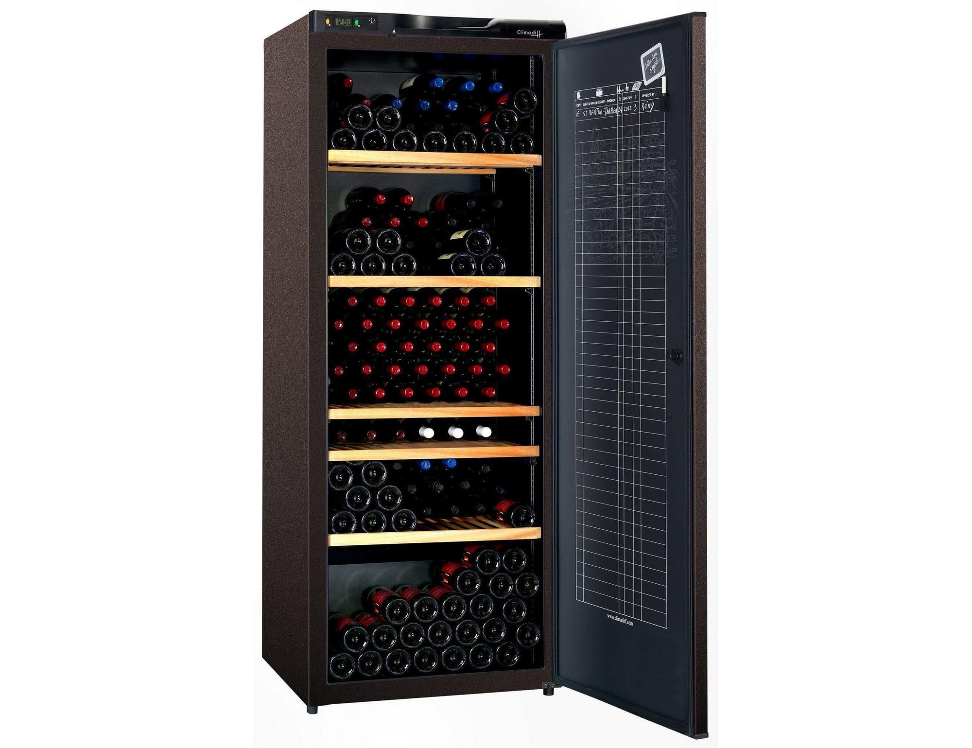 Climadiff CLA310A+ - Single Zone - Ageing Wine Cabinet - 294 Bottles - Freestanding - 700mm Wide-Expert Wine Storage