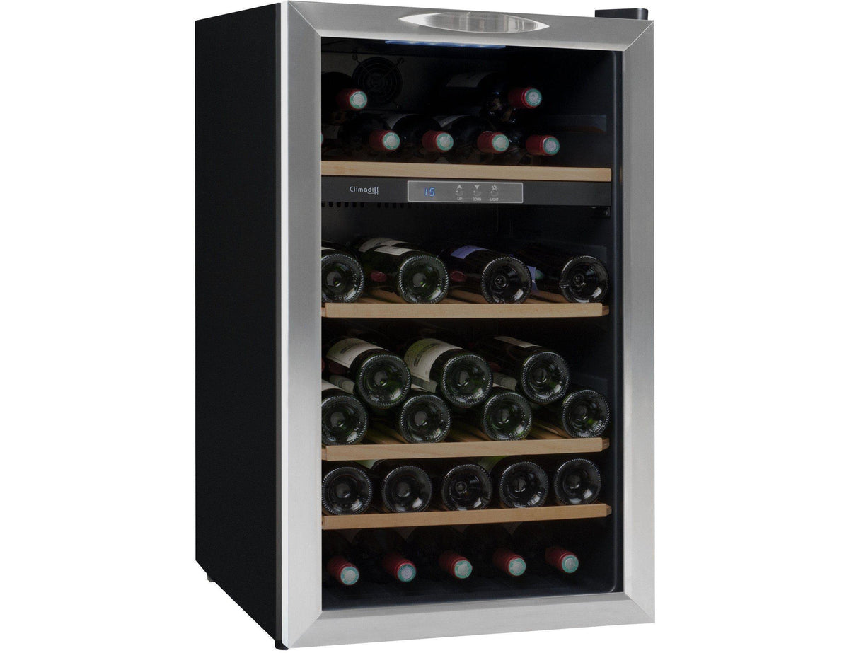 Climadiff CLS52 - Single Zone - 52 Bottles - Freestanding - 495mm Wide-Expert Wine Storage