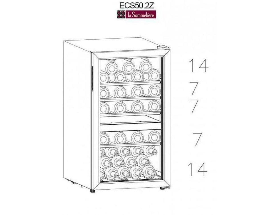 La Sommelière - ECS50.2Z - Wine Fridge - Dual Zone Built In Wine Cooler - 49 Bottles - 480mm Wide + Free Corkscrew - Expert Wine Storage