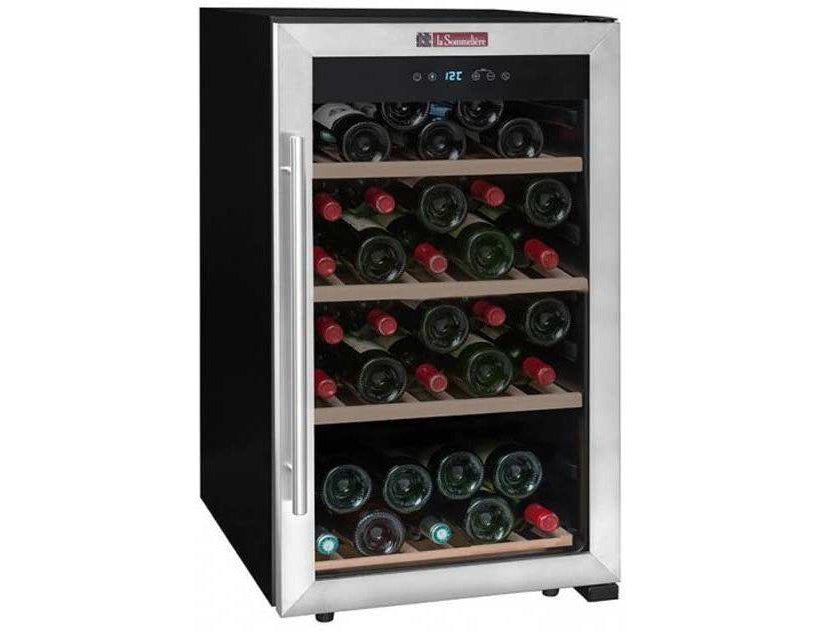 La Sommelière LS52A - Single Zone Wine Cooler - 52 Bottles - Freestanding - 480mm Wide - Silver-Expert Wine Storage