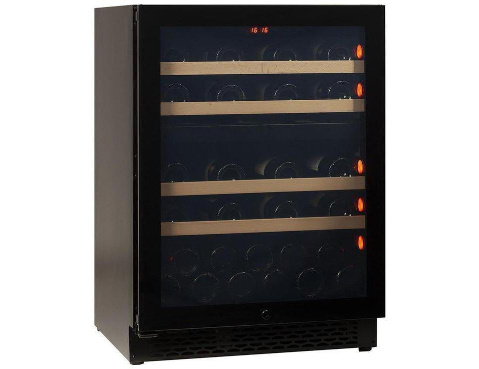 Pevino PNG46D-HHB Wine Fridge - 39 bottle - Built In - 2 Zone Wine cooler - 595mm Wide - Black + free corkscrew - Expert Wine Storage
