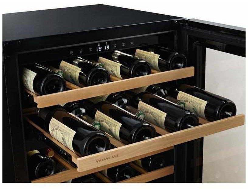 Swisscave WLB160DF - Dual Zone - Built In or Freestanding - 40 to 50 Bottles - 595mm Wide