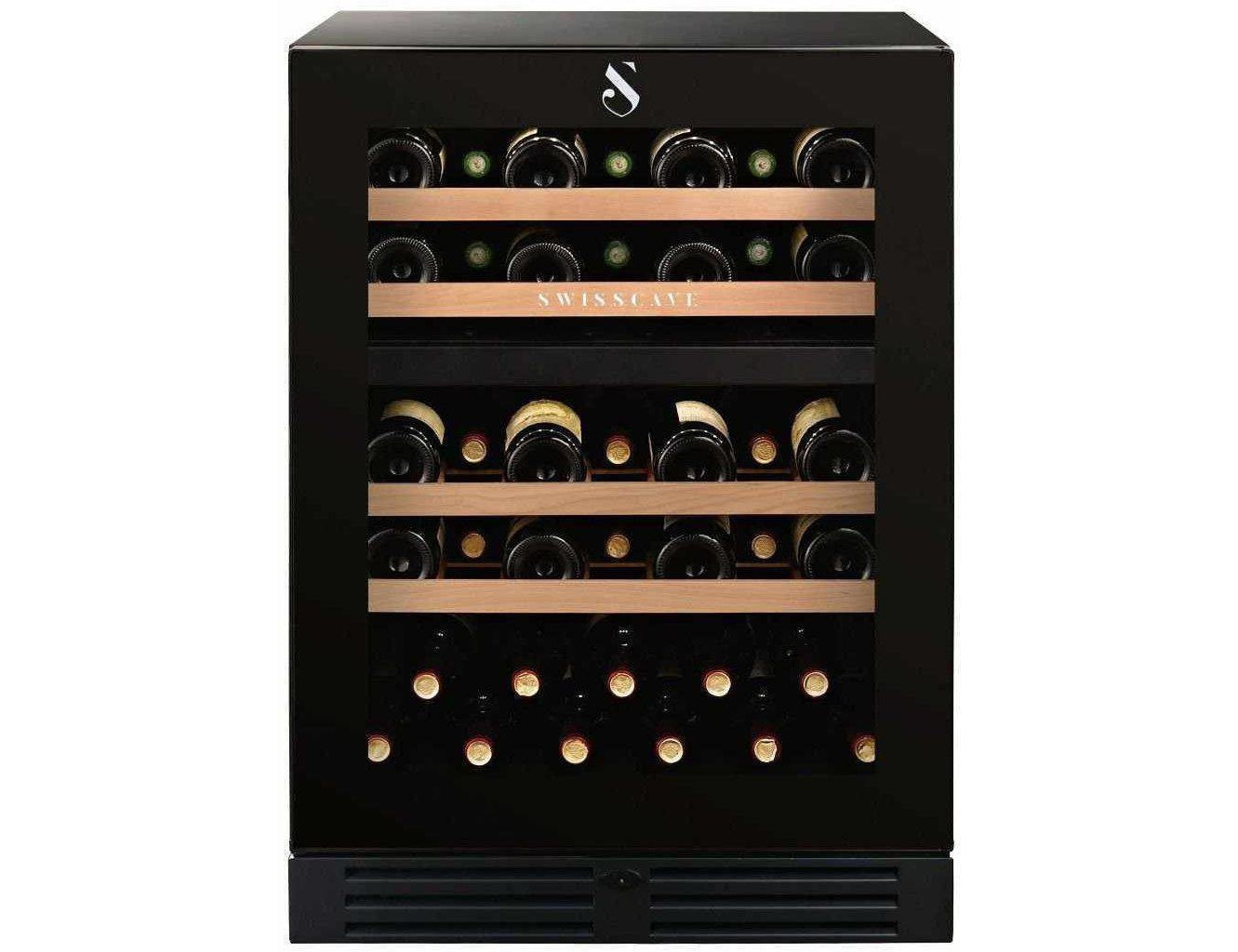 Swisscave WLB-160DF - Dual Zone - Built In - 40 to 50 Bottles - 595mm Wide
