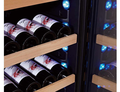 Swisscave WLB460DFL - Dual Zone - Built In or Freestanding - 168 to 210 Bottles - 595mm Wide