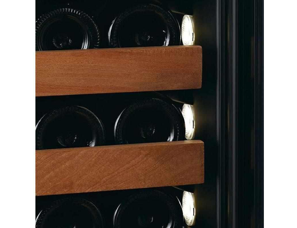 Swisscave WLB-460FL - NEW: Black Edition Single Zone Wine Cooler / Wine Fridge with Ambiente Furnishing (179 - 210 BOT) - 595mm Wide - Expert Wine Storage