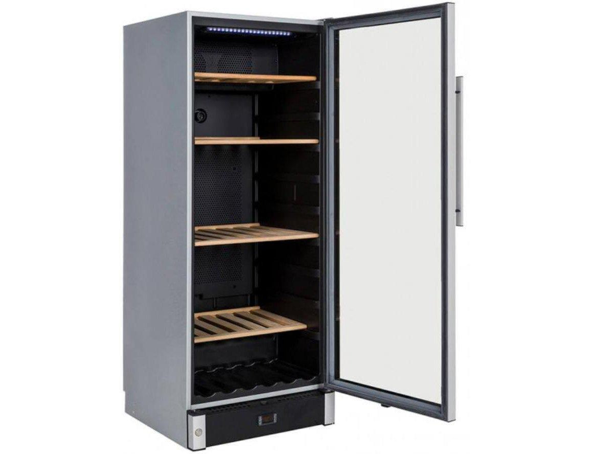 La Sommelière VIP150 - Multizone Wine Cooler - 160 Bottles - Freestanding - 595mm Wide - Silver-Expert Wine Storage