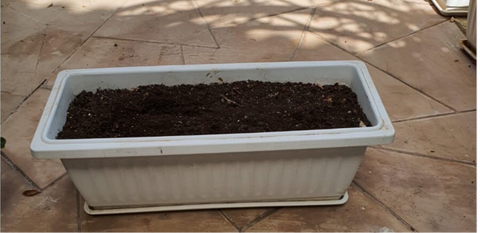 White Rectangle Pot Size 90cm x 30cm x 30cm