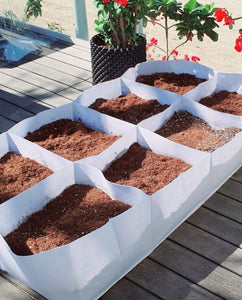 Raised bed breathable white fabric size 80*90 cm