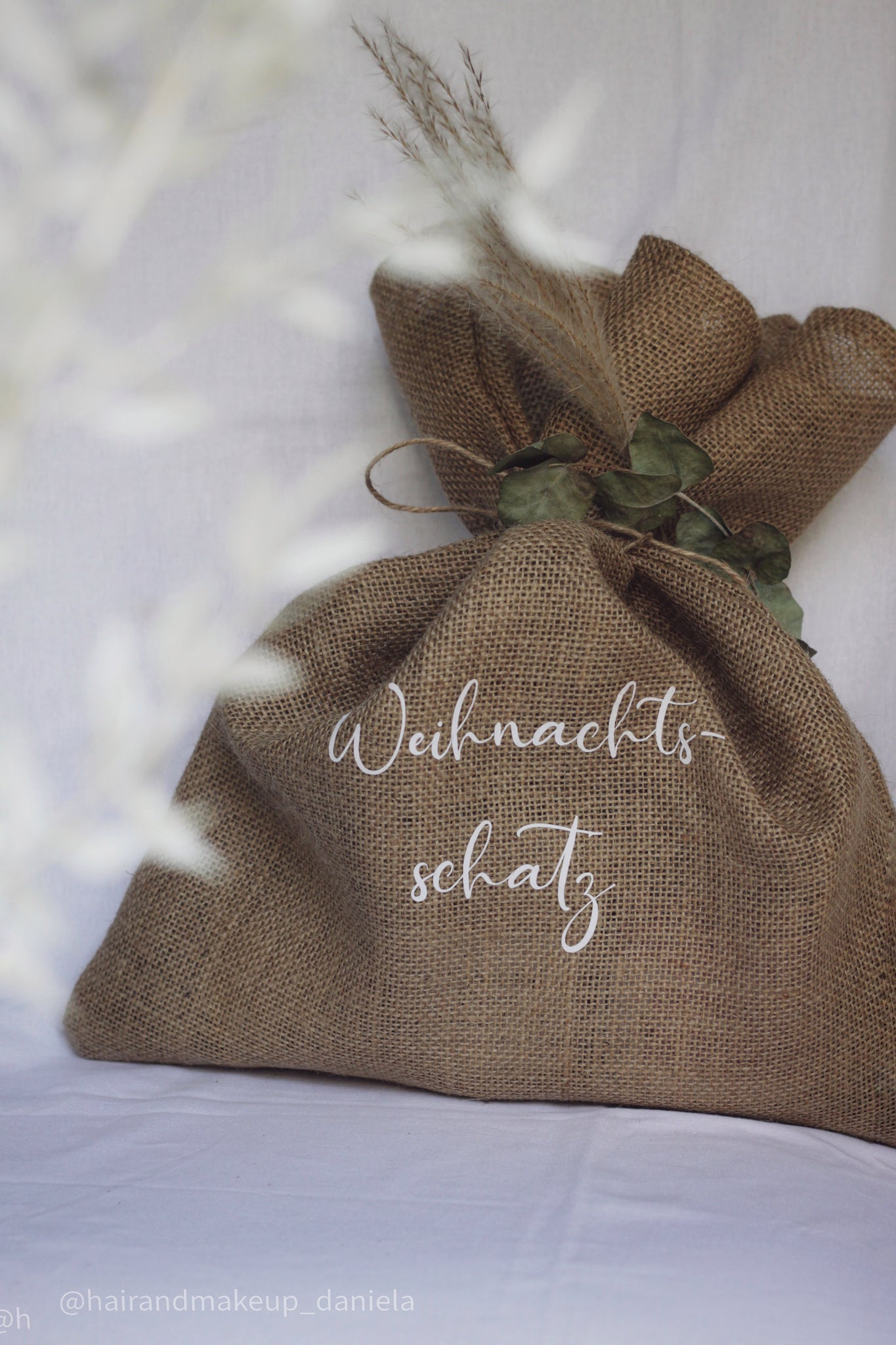 Personalisierte Jute-Beauty Bag