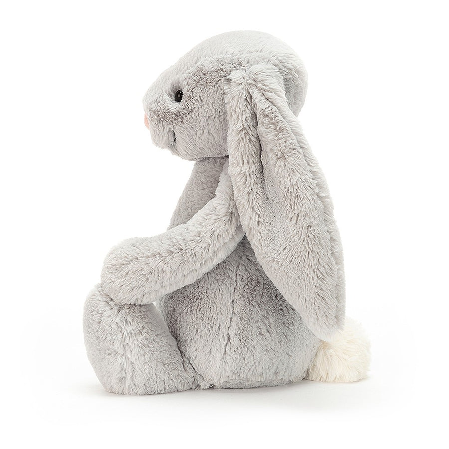 Peluche gros lapin gris