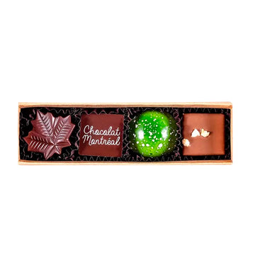 Box of 4 assorted chocolates