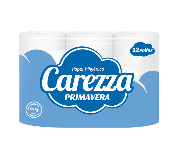 Carezza Papel Higienico 2-Ply (12-Pack)