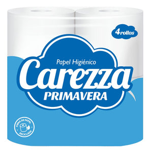 Carezza Papel Higienico Primavera 2-Ply (4-Pack)