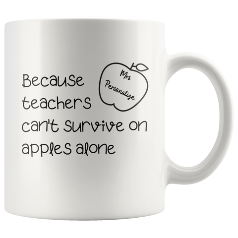 *PERSONALIZED* Teachers' Survival Coffee Mug