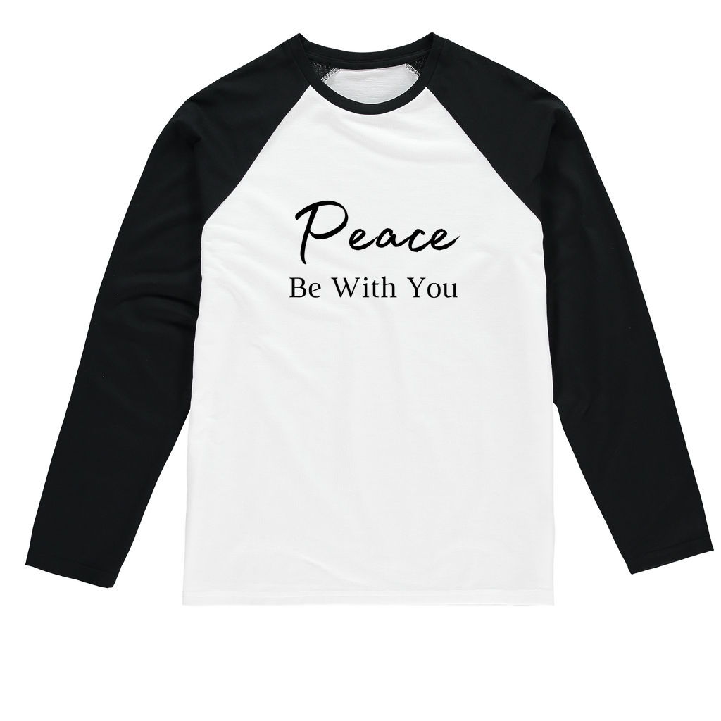 Peace Be With You Peace Be With You Baseball Long Sleeve Tee