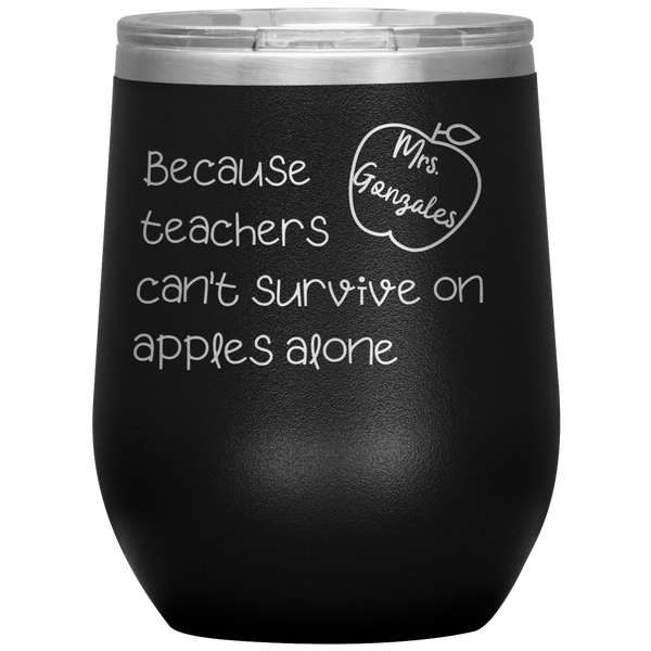 CUSTOM - Teacher Survival Tumbler Gonzalez