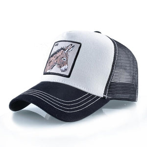 Burro Blanco y Negro - WildLife Caps