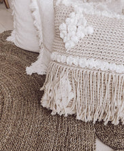 Load image into Gallery viewer, POM POM KNITTED MACRAME FRINGE CUSHION COVER 50x50