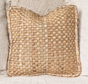 NATURAL WOVEN WATER HYACINTH CUSHION COVER 40x40