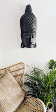 Load image into Gallery viewer, BLACK WOODEN BALI BUDDHA WALL DECOR