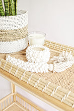 Load image into Gallery viewer, WOVEN RATTAN NATURAL AND WHITE BASKET SMALL