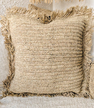 Load image into Gallery viewer, NATURAL RAFFIA CUSHION COVER 60x60