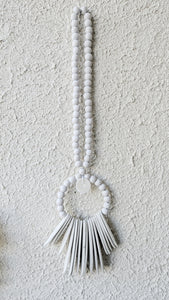 WHITE WOODEN HANGING DECOR