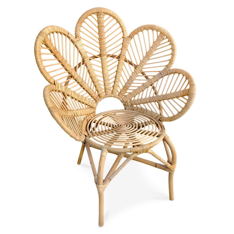 KIDS FLOWER RATTAN CHAIR