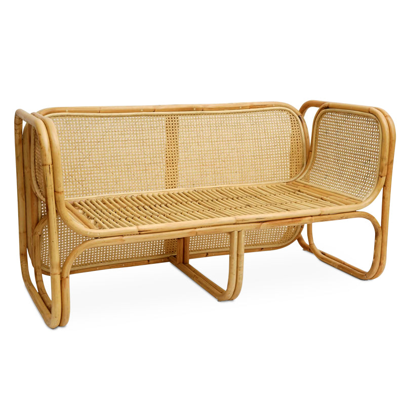 NATURAL CANE RATTAN  SOFA